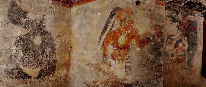 Ces peintures ont été découvertes sur le site archéologique maya de Xultun, au Guatemala.