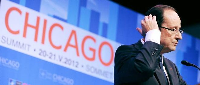 François Holland, à Chicago, lors du sommet de l'Otan.