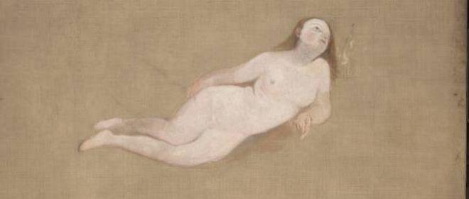 """Two Recumbent Nude Figures"", Joseph Mallord William Turner, 1828."