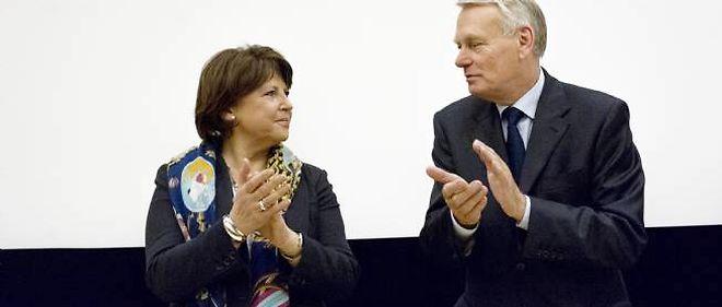 Martine Aubry et Jean-Marc Ayrault, mardi à l'Assemblée nationale.