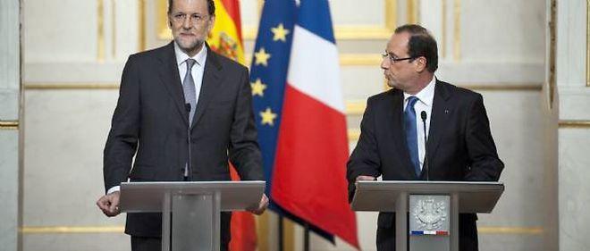 François Hollande et Mariano Rajoy mercredi à Paris.