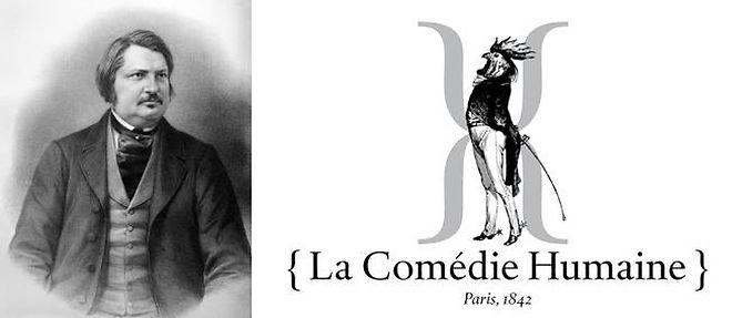 À gauche : gravure non datée d'Honoré de Balzac, le dandy français.  ©OFF / AFP - DR