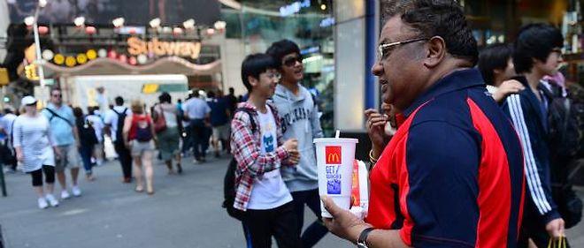Les maxi-sodas pourraient être interdits à New York, une première aux États-Unis.