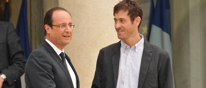 François Hollande a reçu Roméo Langlois à l'Élysée.