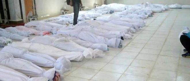 Photo prise par l'opposition syrienne après le massacre de Houla.