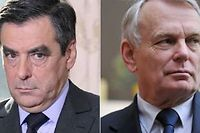 François Fillon et Jean-Marc Ayrault (montage Le Point.fr) ©Jacques Demarthon et Franck Perry