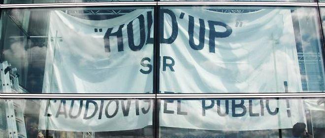 Le 25 juin 2008, les salariés de France Télévisions protestaient contre le rapport sur l'audiovisuel public remis par J.-F. Copé à Nicolas Sarkozy.