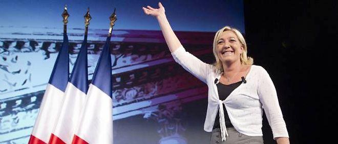Marine Le Pen à Paris, vendredi soir.