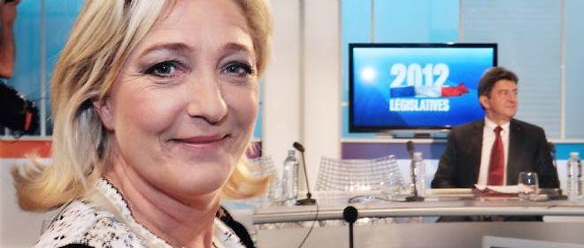 """Sur le plateau de France 3 Nord-Pas-de-calais, Marine Le Pen a accusé Jean-Luc Mélenchon d'être un """"immigrationniste fou""""."""