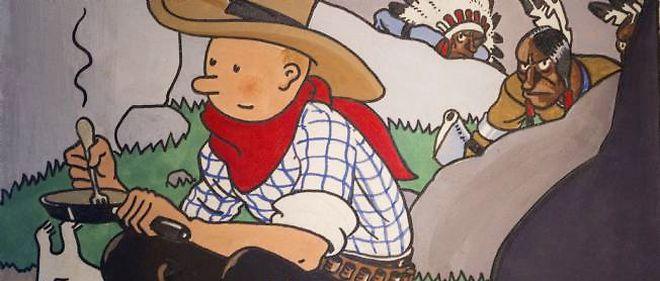 Il n'existe que cinq couvertures gouachées en couleur directe des aventures de Tintin.