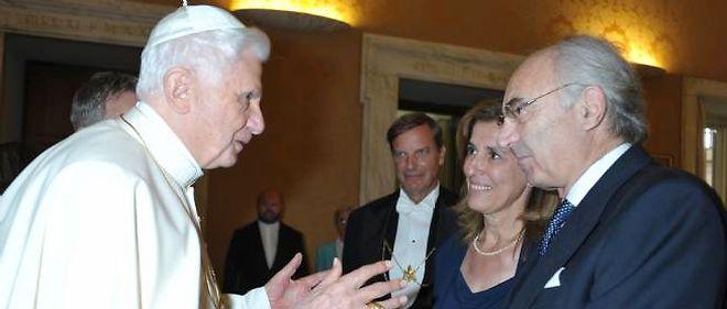 Benoît XVI et Ettore Gotti Tedeschi en septembre 2010.