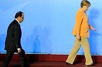 Hollande et Angela Merkel vont devoir s'entendre sur l'avenir de l'Europe.