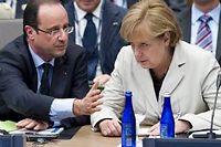 Le président français bataille pour convaincre son partenaire allemand. ©Saul Loeb