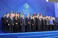 Les chefs d'État et de gouvernement du G20, réunis à Los Cabos (Mexique), ont fait état de leur préoccupation pour l'économie européenne. ©EyePress News