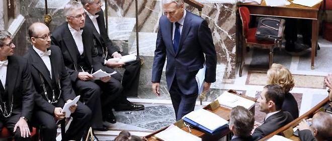 Jean-Marc Ayrault à son arrivée à l'Assemblée nationale mardi.