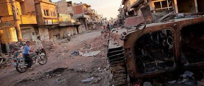 Le village dévasté d'Atareb, dans le Nord de la province d'Alep, le 2 juillet.