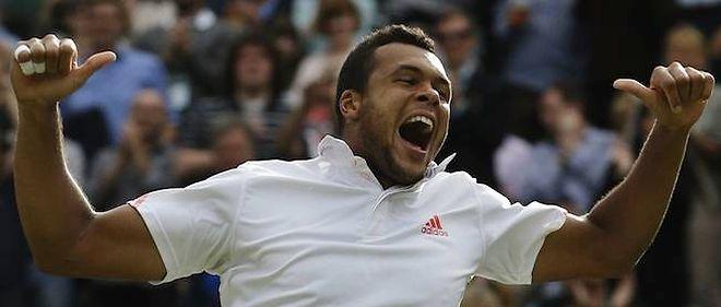 Deuxième demi-finale consécutive à Wimbledon pour Jo-Wilfried Tsonga.