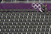 Samedi, plusieurs sites n'étaient que partiellement occupés, notamment la piscine olympique et le club de Wimbledon, où se déroule le tournoi de tennis (photo d'illustration). ©Daniel Garcia