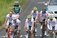 Entraînement de l'équipe italienne de cyclisme, la veille de l'ouverture des JO de Londres. ©CARL DE SOUZA / AFP