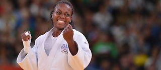 Gévrise Emane rapporte la neuvième médaille à la délégation tricolore. ©Johannes Eisele