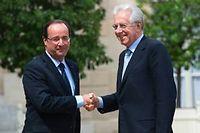 François Hollande et Mario Monti à l'Élysée, mardi. ©Bertrand Langlois