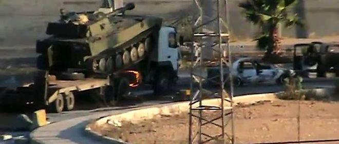 L'armée syrienne déployant des forces terrestres à Alep, mercredi.