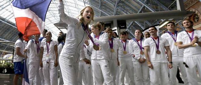 La délégation française de retour des Jeux de Londres.