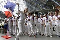 La délégation française de retour des Jeux de Londres. ©Kirsty Wigglesworth