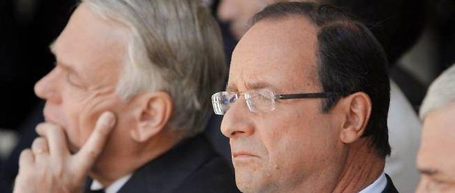 François Hollande et son Premier ministre Jean-Marc Ayrault le 22 juillet dernier.