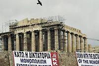 La Grèce est piégée par une spirale d'augmentation de sa dette. ©Louisa Gouliamaki