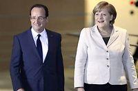 Après trois semaines de vacances, François Hollande retrouve Angela Merkel. ©Odd Andersen