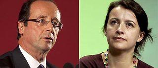 François Hollande et Cécile Duflot. ©Montage Le Point.fr