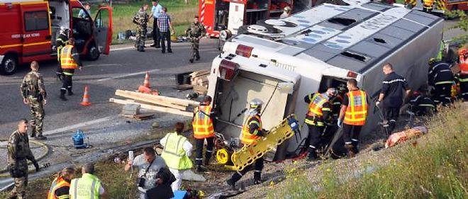La scène de l'accident, mardi matin.