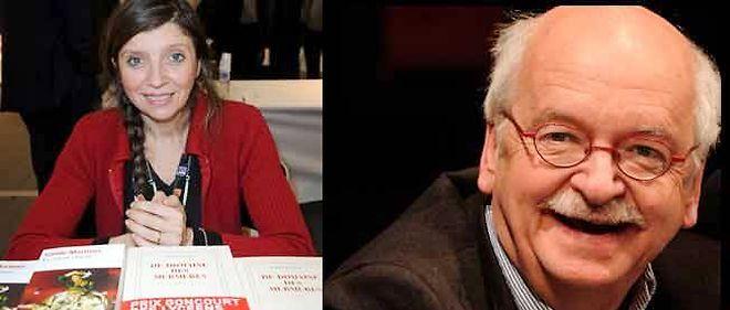 Carole Martinez et Erik Orsenna, tous deux lauréats du prix Goncourt des lycéens, à 25 ans d'intervalle.