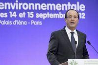 Le président a voulu rassurer ses alliés écologistes à l'ouverture de la conférence gouvernementale vendredi matin. ©Jacky Naegelen