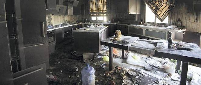 Le consulat américain de Benghazi le 13 septembre, deux jours après l'assaut qui a coûté la vie à l'ambassadeur Chris Stevens et à trois membres des forces de sécurité.