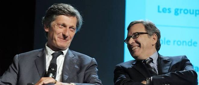 Nicolas de Tavernost, patron de M6, et Nonce Paolini, patron de TF1