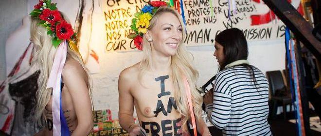 """Les Femen ont installé à Paris """"le premier centre d'entraînement"""" au """"nouveau féminisme""""."""