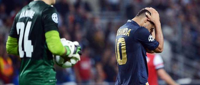 Younes Belhanda n'a pas réussi à égaliser face à Arsenal le 18 septembre en phase qualificative de la Ligue des champions.