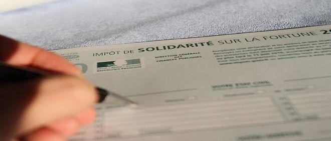 Formulaire d'impôt de solidarité sur la fortune.