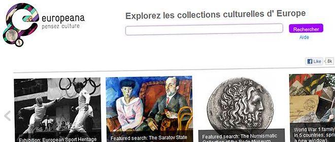 Capture d'écran du site d'Europeana.
