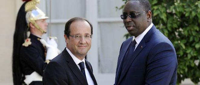 François Hollande recevant le président sénégalais, Macky Sall, le 6 juillet dernier à l'Élysée.