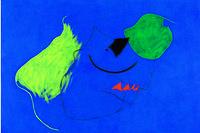 Présentée à la Fiac à un prix non communiqué, l'oeuvre de Miro,