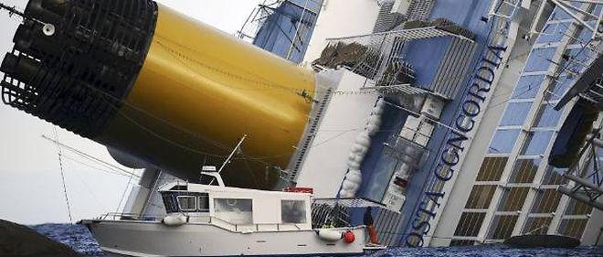 L'épave du Costa Concordia.