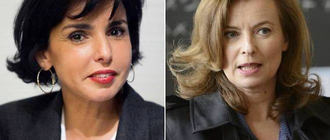 Rachida Dati et Valérie Trierweiler.
