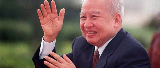 L'ancien roi du Cambodge Norodom Sihanouk.