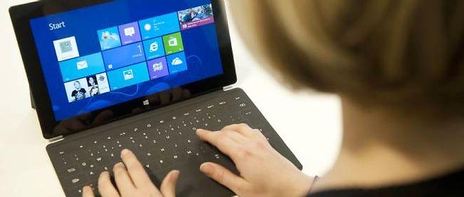 La tablette Surface de Microsoft, équipée de Windows 8.