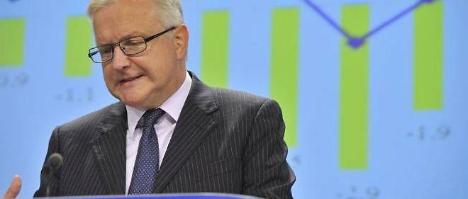 Olli Rehn, le commissaire aux affaires économiques et monétaires, présentait le 7 novembre ses prévisions de croissance pour la zone euro.