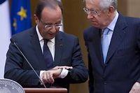 François Hollande et Mario Monti le 14 juin. ©Andrew Medichini