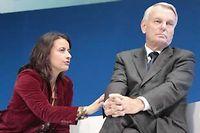 Cécile Duflot et Jean-Marc Ayrault, le 25 septembre 2012 à Rennes. ©F. Lepage / Sipa